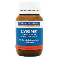Ethical Nutrients Lysine Viral Cold Sore Defence - 30 Tablets