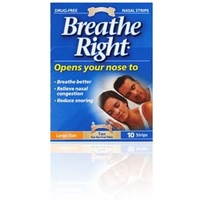 Breathe Right Nasal Strips Tan x 10 Large