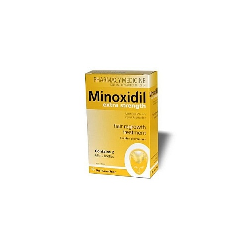 Minoxidil Extra Strength 5% 2 x 60mL (two months supply) Regaine Generic