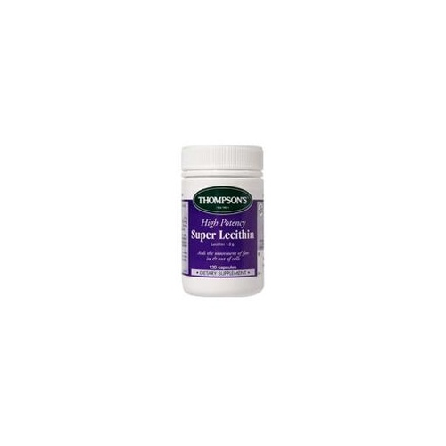 Thompson's High Potency Super Lecithin 120 Capsules